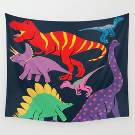 Dinosaur Domination - Dark Wall Tapestry