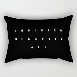 FEMINISM BENEFITS ALL Rectangular Pillow