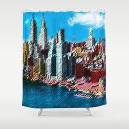 Midtown Manhattan New York City Skyline Portrait - Jéanpaul Ferro Shower Curtain