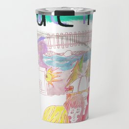 """Mona and Emmy"" / Frontier Ruckus Song Illustrations, Series 1 (8/15) Travel Mug"