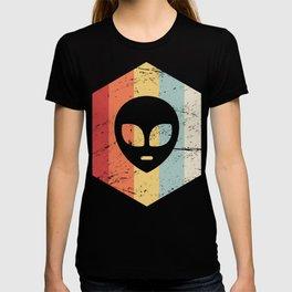 Retro Alien UFO Icon T-shirt