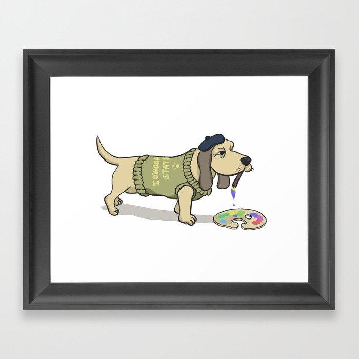 A Painting Dog Framed Art Print