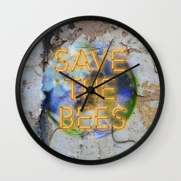 Save the Bees - Neon Wall Clock