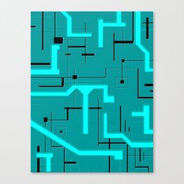 Emerald Voltage Canvas Print