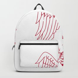 Great Horned Owl Marching Drawing Backpack