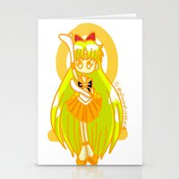 sailor venus Stationery Cards featuring Sailor Venus by Glopesfirestar