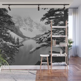 The View (Black and White) Wall Mural