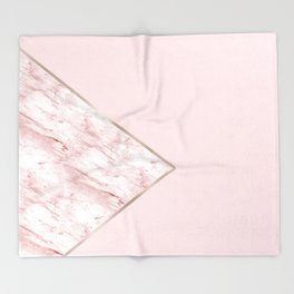Blush pink geo - pink marble Throw Blanket