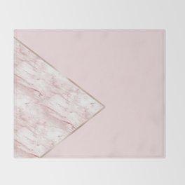 Blush pink geo - pink marble Throw Blanket
