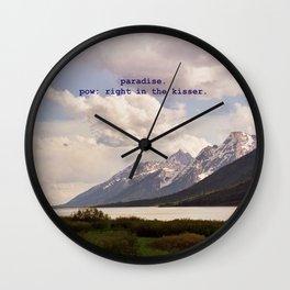 paradise, pow. Wall Clock