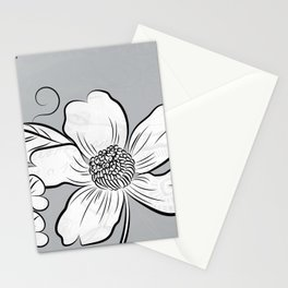 Merry Marsh Marigold - Black and White Stationery Cards