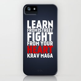 Learn from the Street Krav Maga iPhone Case
