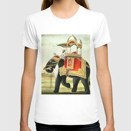 Vintage Decorated Elephant With Howdah Painting T-shirt