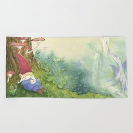 The Sleeping Gnome Beach Towel