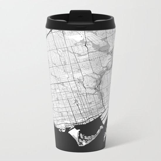 Toronto Map Gray Metal Travel Mug