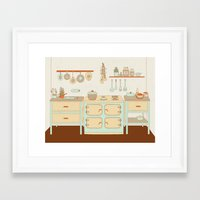 cooking Framed Art Prints featuring Let's get cooking by Cami