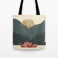 boat Tote Bags featuring Boat by James White