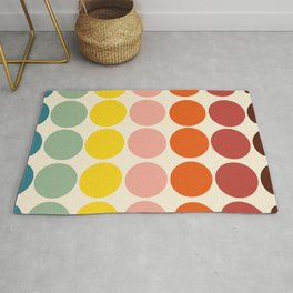 Classic Freehand Retro Bubbles And Dots Rug