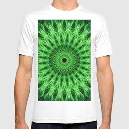 Bright green mandala T-shirt