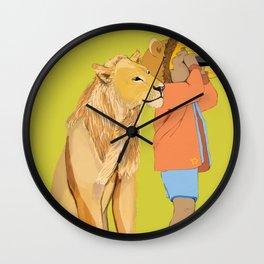 Lion Girl Wall Clock