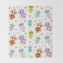 Fun Robots for Kids of All Ages Throw Blanket