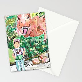 Dino Trouble Stationery Cards