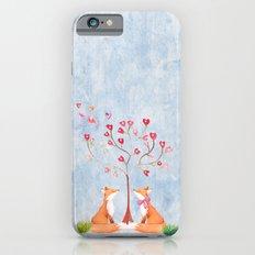 Fox love- foxes animal nature _ Watercolor illustration iPhone 6 Slim Case