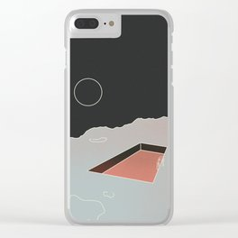 Moon Pool Clear iPhone Case