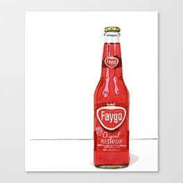 Faygo Red Pop Watercolor Illustration Canvas Print