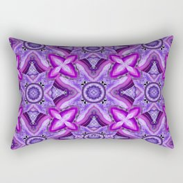JCrafthouse Agate of Wonder in Royal Purple Rectangular Pillow