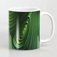 malachite Mugs featuring Malachite by Vix Edwards - Fugly Manor Art