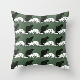 """Théophile Steinlen  """"Frise de chats"""" (original) Throw Pillow"""