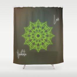 Heart chakra balancing mandala, love chakra healing Shower Curtain