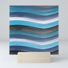Blue lines Mini Art Print