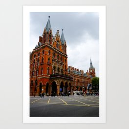 Euston Crossroads. Art Print