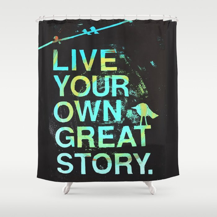 GREAT STORY Shower Curtain