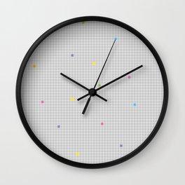 Checked Pattern_Q Wall Clock