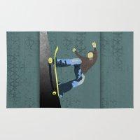 skateboard Area & Throw Rugs featuring Skateboard 4 by Aquamarine Studio
