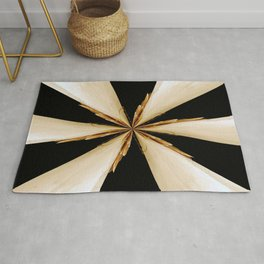 Black, White and Gold Star Rug