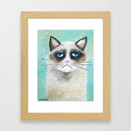 Cattitude - Ragdoll Cat Art Print Whimsical Art Framed Art Print