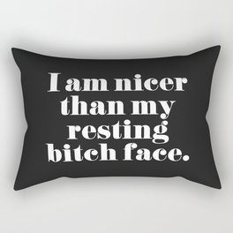 Resting Bitch Face Funny Quote Rectangular Pillow