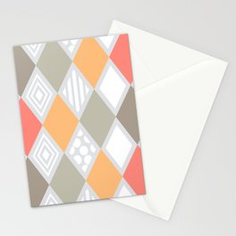 arlequin pattern Stationery Cards