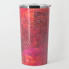 Original Textured Painting Orange and Red Travel Mug