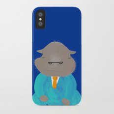 Napping Mr.Hippo iPhone X Slim Case