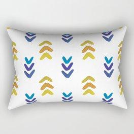 Blue and Yellow Arrowheads Rectangular Pillow