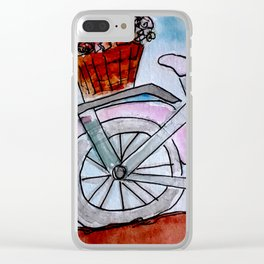 Bicycle watercolour Design Clear iPhone Case