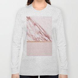 Alabaster rosa & rose gold on blush Long Sleeve T-shirt