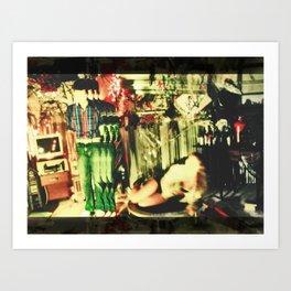 Garage Sale Art Print