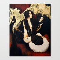 mirror Canvas Prints featuring Mirror by Biba Kayewich