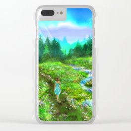 Meadow of Life Clear iPhone Case